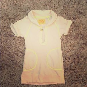 Free People casual Polo Neon Top